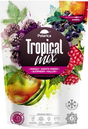 Tropical mix med mango, svarta vinbär, björnbär och hallon