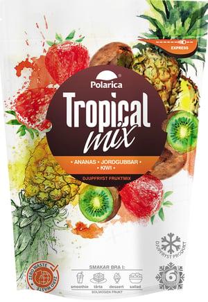Tropical mix med ananas, jordgubbar och kiwi